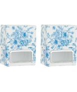 HomeWorx Harry Slatkin Set 2 Toile Plug-In Diffusers Blue Toile NEW H217005 - $11.86