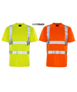 Hi Viz Vis T-Shirt Polo Shirt Top Reflect High Visibility Safety Securit... - $12.73