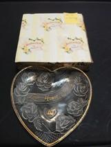 Love Honor Cherish By Enesco 5 In Heart Shaped 10th Anniversary Plate  - $7.92