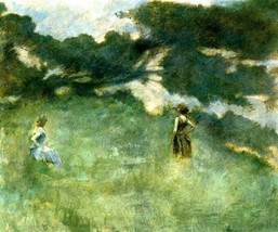 The Hermit Thrush Womem Misty Landscape American Painting By Thomas Dewing Repro - $10.96+