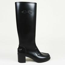 Salvatore Ferragamo Gancini Block Heel Rain Boots SZ 8 - $185.00
