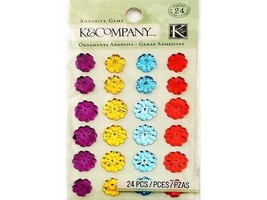 K&Company Adhesive Gems, 24 Count #30-613607