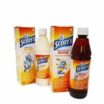SCOTTS EMULSION Cod Liver Oil Original/Orange Flavor  2 X 400ml - $52.80