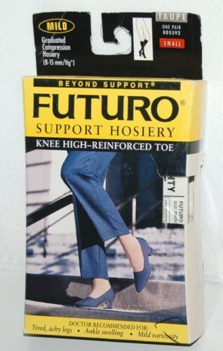 Futuro 005592 Mild Compression Knee High Hosiery Color Taupe Size Small