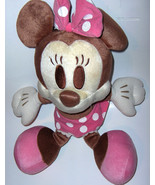plush Disneyland **Minnie Mouse** - brown Minnie Mouse dressed in pink - $18.69