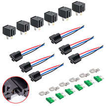12V DC 40/30 Amp 4-Pin Automotive Relay Harness Set Switch Fuse 6 pack - $31.50