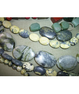 crafts beads jewelry making 1 Lbs green Gemstones~Agate, turquoise, Aven... - $32.67