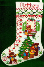 Dimensions Bears Gingerbread Shoe Teddy Christmas Cross Stitch Stocking Kit 8304 - $47.95