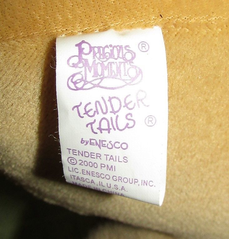 """Enesco TENDER TAILS MOOSE 12"""" Plush PRECIOUS MOMENTS Stuffed Animal Sticky Hands image 7"""
