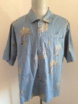 COLUMBIA Men's Casual Short Sleeve Shirt Size XL Marlins in Print & Stitched EUC - $17.76