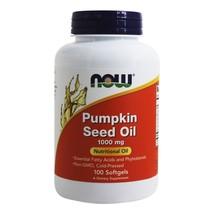 NOW Foods Pumpkin Oil 1000 mg., 100 Softgels - $12.55