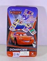 Disney Pixar Cars 2 Cardinal  Plastic Dominoes Party Game Tin - $9.67