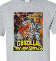 Godzilla vs Mechagodzilla T-shirt vintage Sci Fi Japanese Monster movie gray tee image 2