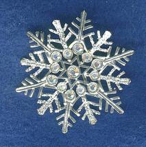 Vintage Avon Snow Flake Rhinestones Brooch Pin - $9.99