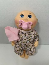 Cabbage Patch Kids Snuggle Time baby doll pink floral outfit pacifier blanket - $12.86