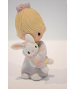 Precious Moments: Jesus Loves Me - E-9279 - Girl With Rabbit - Classic F... - $15.83