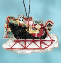 Vintage Sleigh 2017 Charmed Sleigh Ride Ornaments cross stitch kit  Mill Hil - $7.20
