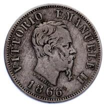 1866 Italy 50 Centesimi Coin (VF Condition) KM 14.1 - $54.45