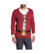 Ugly Christmas Sweater Santa Claus Crew Neck Ugly Christmas Sweater Size L - $26.94