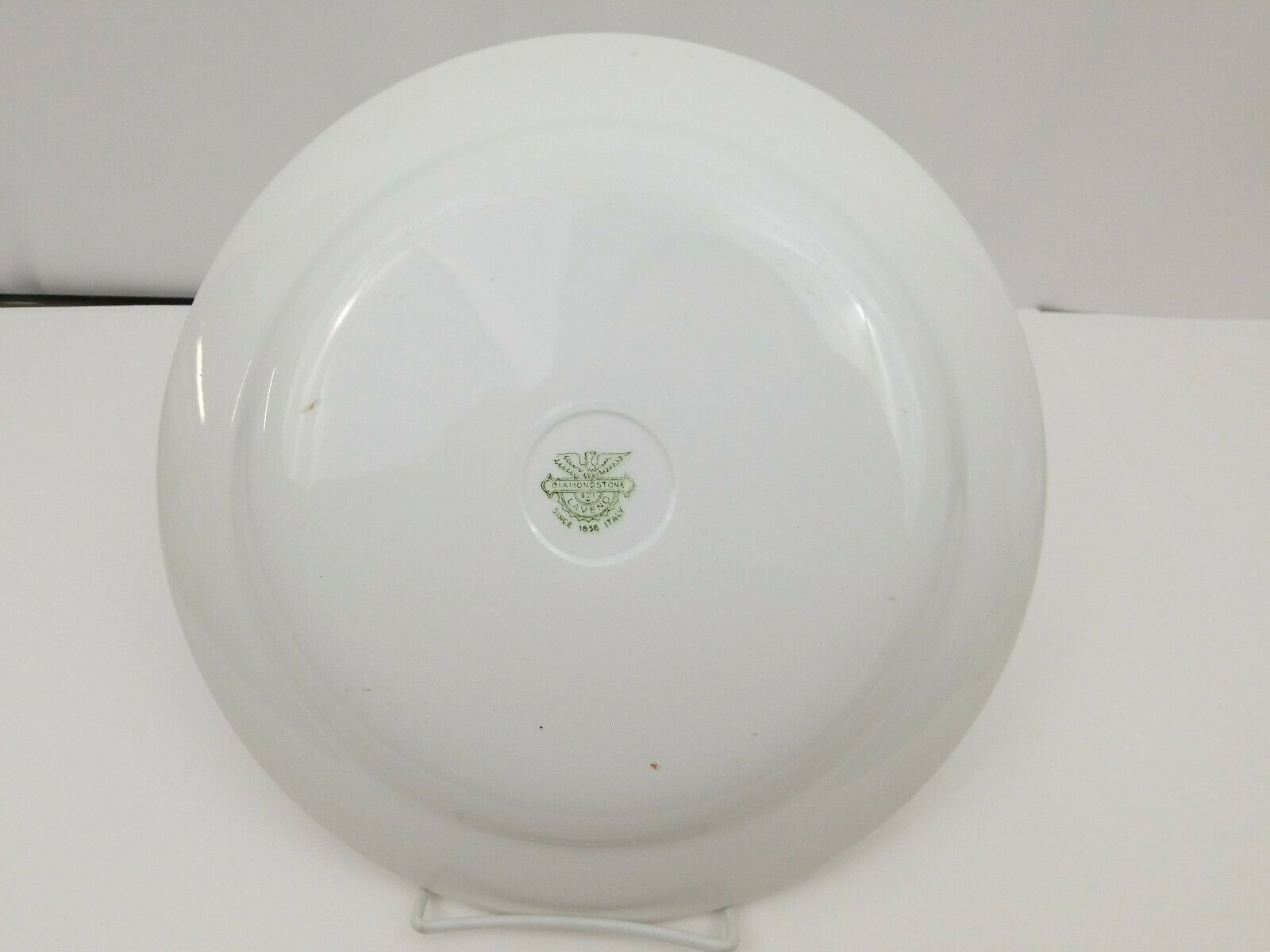 "Diamondstone Laveno White Chop Plate / Platter Ceramic Made in Italy 11.5"" image 4"
