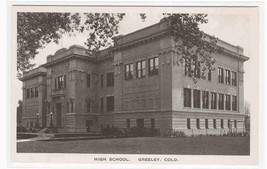 High School Greeley Colorado postcard - $6.44