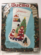 NEW Bucilla Vtg A Dickens Christmas Felt Stocking Kit Beads Sequins 82824 - $29.99