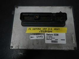 2003 SATURN ION  2.2-L  ECM # 12574270 / 12580204 (BOX-2443)  MATCH PART # - $17.77