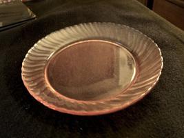 Pink Rosaline pink swirl depression glass salad/dessert plate - $14.95