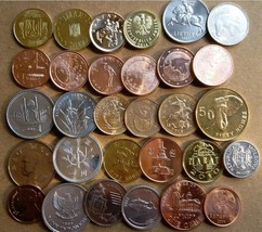 """ WORLD COINS ""Set of (30) Coins,from 30 Countries: - $24.99"