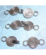 1 .925 Sterling Silver Bali Clasp Spiral Coil Design #ZF024 - $6.82