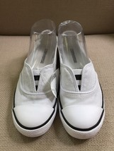 CONVERSE ALL STAR WHITE CANVAS SLIP ON FLATS SNEAKERS SKIMMERS SIZE 7.5 - $32.44