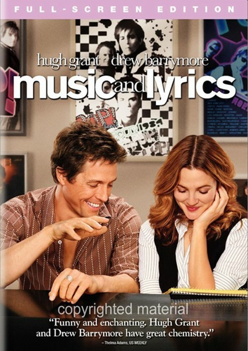 Music and Lyrics DVD Movie New Sealed Drew Barrymore & Hugh Grant Full Screen