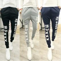 New 2018 Men Are Men Fall New Letters Printed Men's Sports Pants Haren Jeans - $47.94