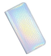 Long Wallet for Women With zipper Holographic Clutch Wallet Pouch Purse ... - $18.10