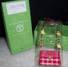 Xmas Ornament Department 56 Lollysticks Red Pocketbook Stars Purse Lover... - $14.25