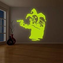 """( 79"""" x 87"""" ) Banksy Glowing Vinyl Wall Decal Joker Clown with Pistols / Glow in - $389.01"""