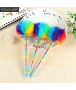 KEVIN&SASA CRAFTS® Rainbow Plush Gel Pens Kawaii School Supplies Stationery - $4.99