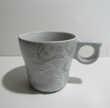 Starbucks 2016 Gray Coffee Mug Cup 12oz Embossed Mermaid Siren Tail Anniversary - $7.60