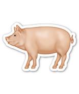 Emoji Pig shaped vinyl sticker 100mm or 150mm porcine sow farming bacon ... - $3.00+