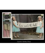 """Burlap Wedding Banner Scroll HERE COMES THE BRIDE 36"""" - $8.99"""
