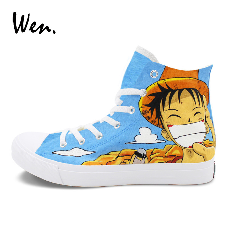 Wen Anime Sneakers Men Women Hand Painted and 50 similar items. onepiece 1 eb5f69134bfe