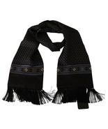 Men's Dolce & Gabbana 100% Silk Baroque Scarf Brown - £98.25 GBP