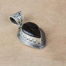 Good Chances and Luck Gemstones, Big Black Rutile Pendant, 925 Sterling ... - $117.00