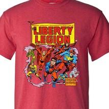 The Liberty Legion T-shirt Bucky vintage marvel comics retro blend graphic tee image 1