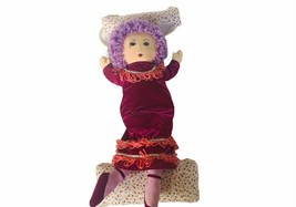 "Russ Berrie Doll Swing plush stuffed animal 16"" vtg purple violet hair d... - $38.65"