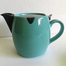 FORLIFE Hospitality Teabag Teapot 15oz Turquoise Ceramic Stainless Steel - $19.80