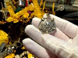 BOLIVIA 4 REALES 1739 LA LUZ SHIPWRECK 1752 PENDANT PIRATE GOLD COIN JEW... - $1,695.00