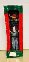 "Kurt S Adler - COWBOY 15"" wooden Nutcracker Ex/NMIB - $24.75"