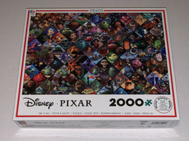 NEW Ceaco Disney Pixar Characters Collage 2000 Piece Jigsaw Puzzle - $34.30