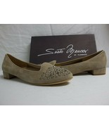 Sesto Meucci Of Florence Size 10 M Steffy Beige Suede Flats New Womens S... - $96.33